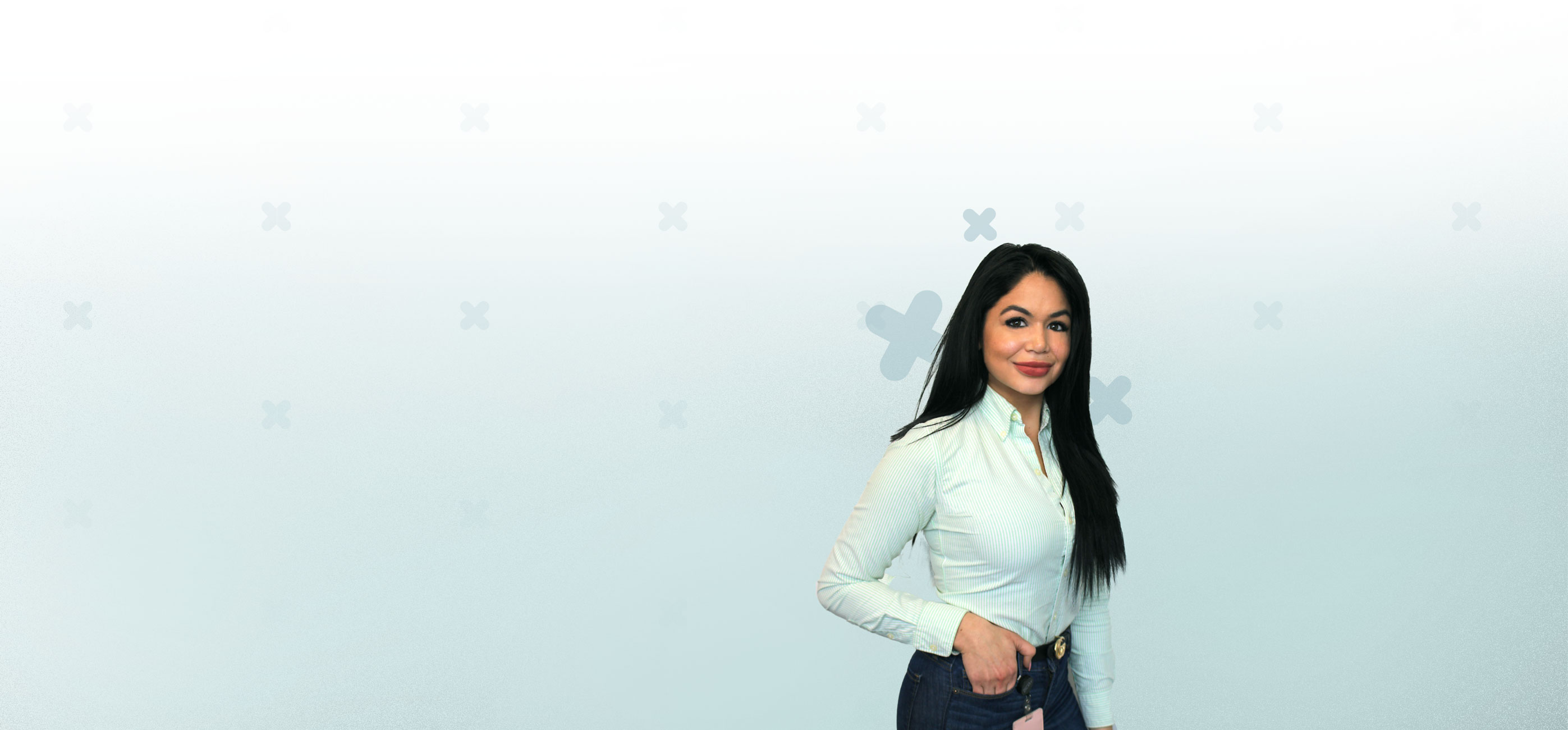 female employee banner